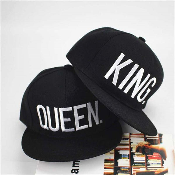 KING QUEEN embroidered letter youth Lover Men women Baseball cap