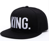 Free KING QUEEN Embroidered letter youth Lover Men women Baseball cap