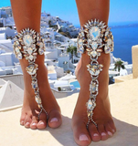 Multicolor Luxury Crystal Sexy Beach Long Anklets