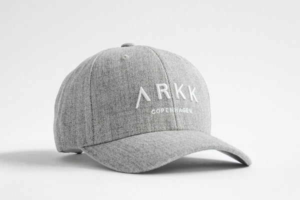 ARKK Accessories Baseball Cap Grey Melange White Cap