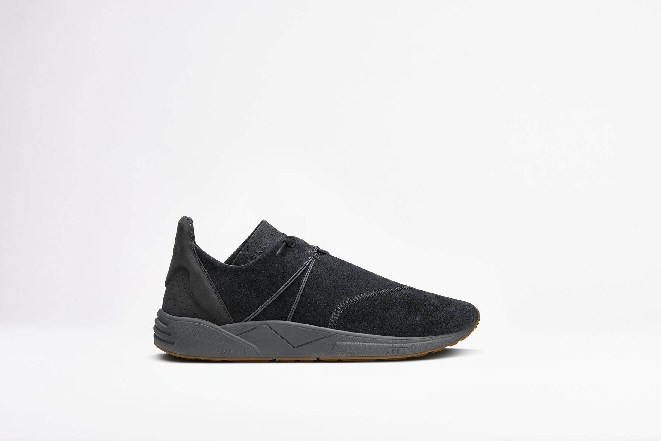 ARKK Copenhagen - Main Line Eaglezero Suede S-E15 Black Gum - Women Eaglezero Black