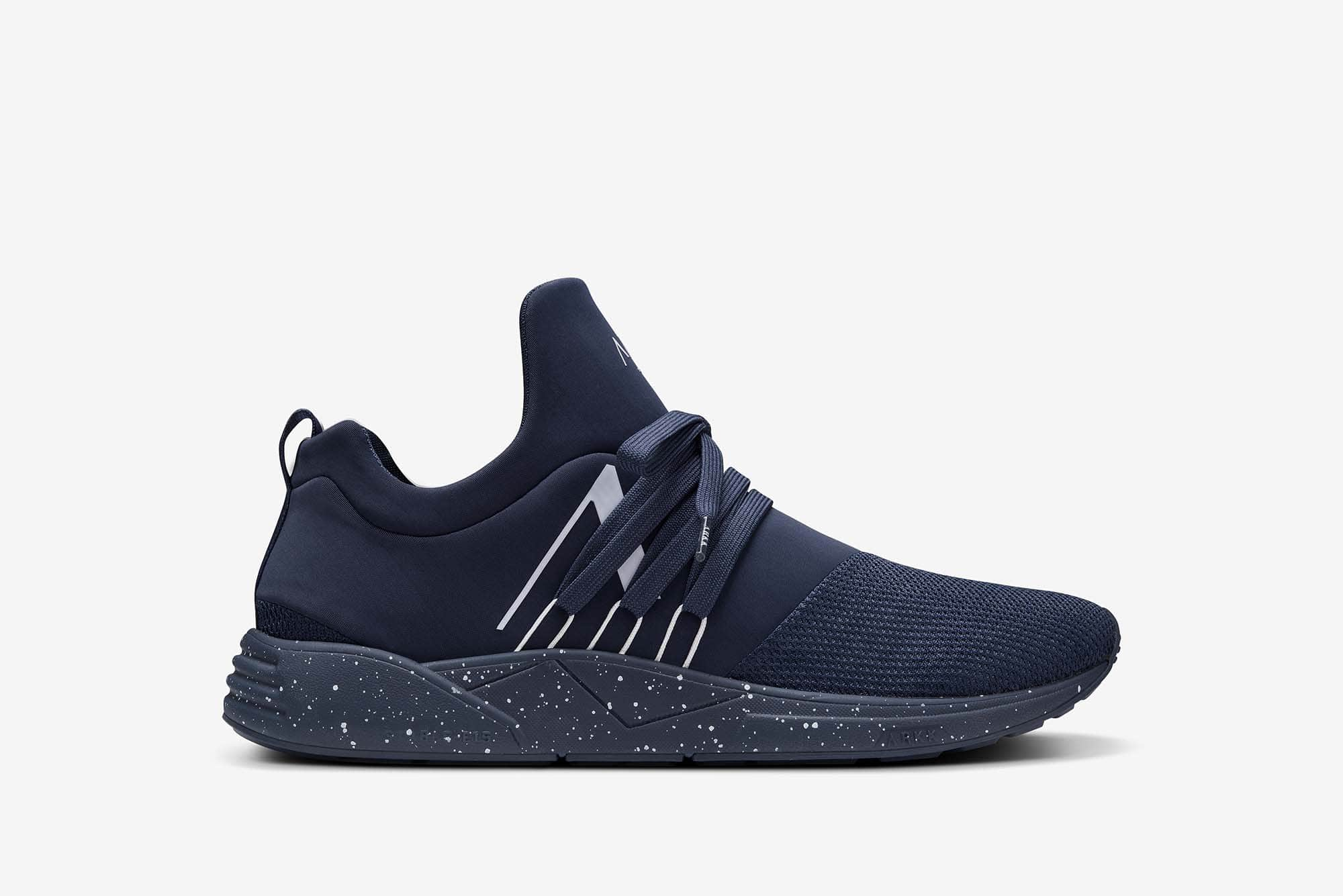 ARKK Copenhagen - Essential Line Raven Mesh S-E15 Navy White Spray - Men Raven Navy