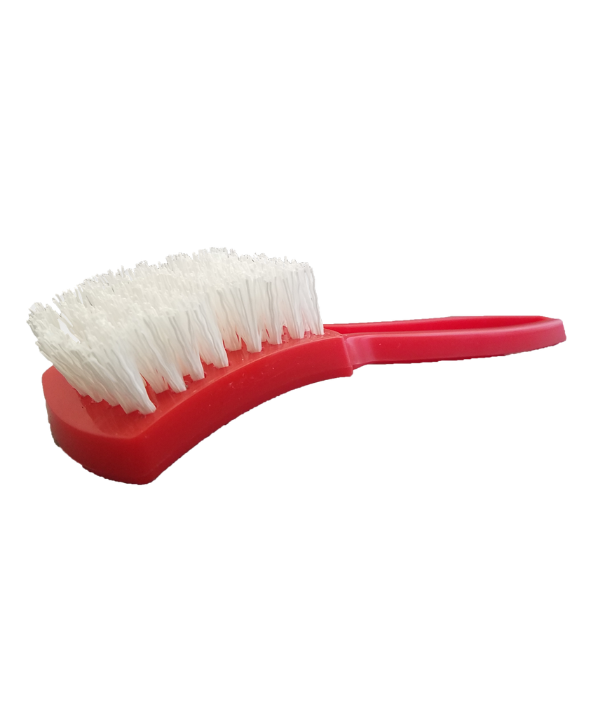 Nylon Whitewall Brush Red
