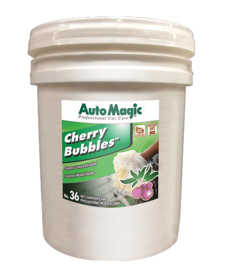 Auto Magic Cherry Bubbles Concentrated Car Shampoo 5 gallon.