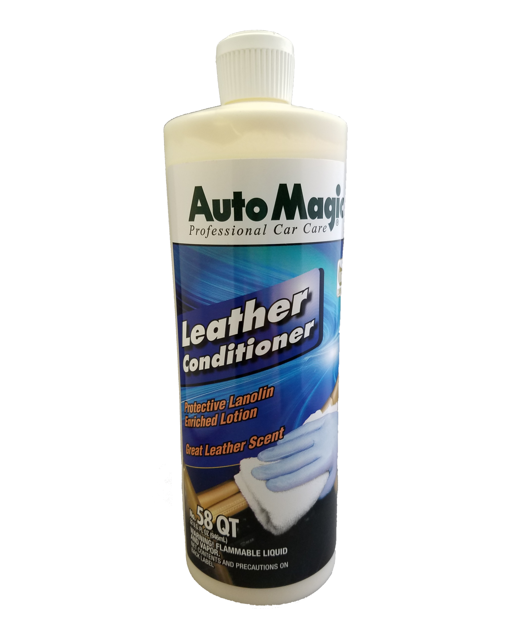 Auto Magic Leather Conditioner with Lanolin 32 oz.