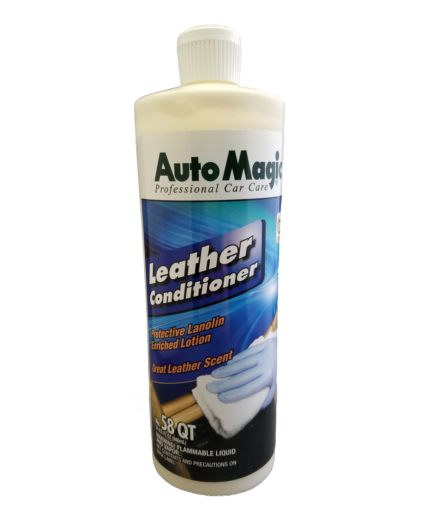 Leather Conditioner w/Lanolin 32oz - Auto Magic