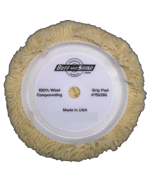 "Wool Buffing Pads- 7.5"" Grip"