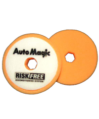 "Auto Magic Risk Free Cutting Pad 3"" foam, orange"