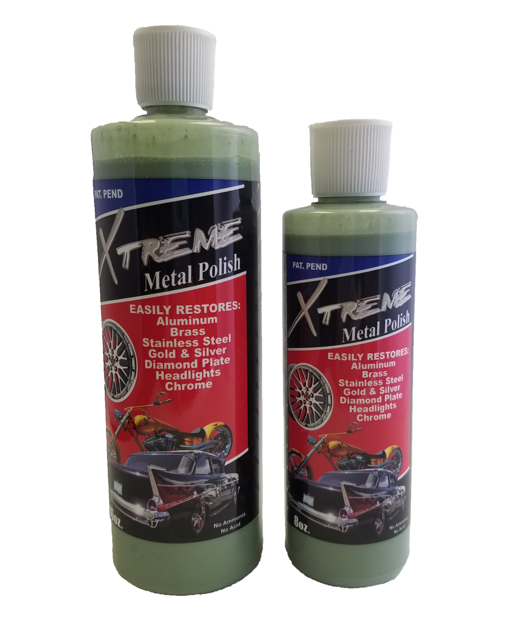 Xtreme Metal Polish 8 oz. and 16 oz.