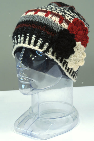 Flower Stripe Hat