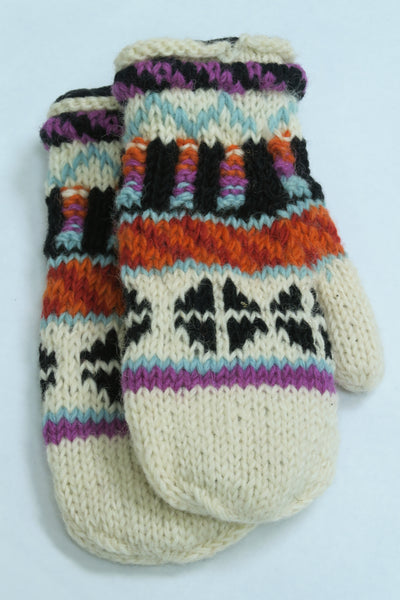 Fairisle Roll Mitts