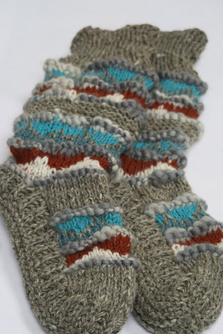Fair Isle TT Long Slippers