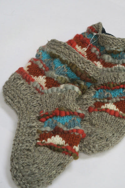 Fair Isle TT Short Slippers