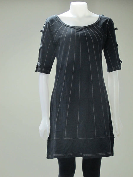 3/4 Sleeve Bone Button Dress