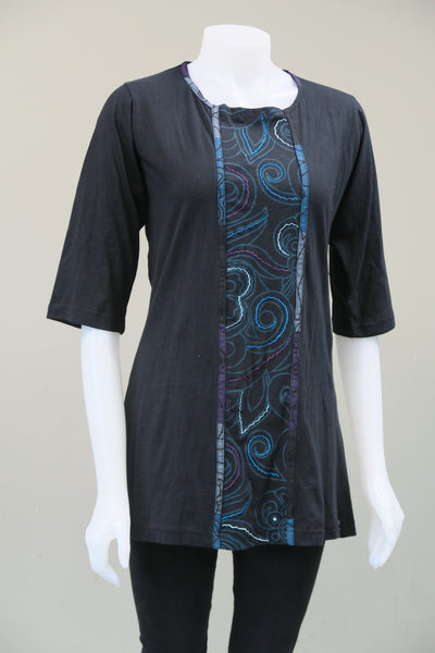 Sinker Emb Tunic with Lace Up Back