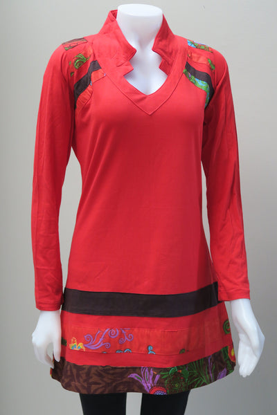 Collared V-Neck Tunic