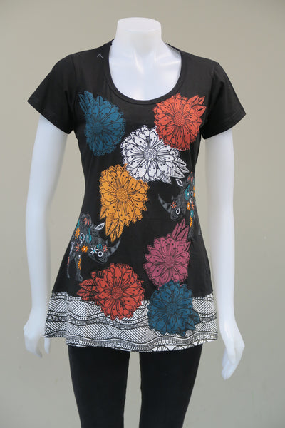 Animal Flower c/s Tops