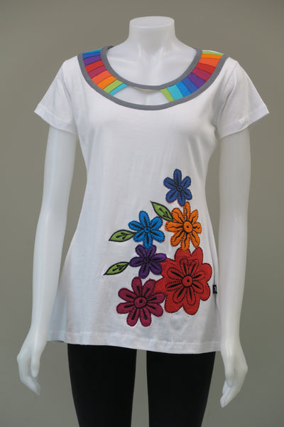 Rainbow Flowered c/s Top
