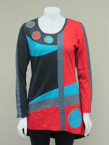 Spiral Dot Tunic Top
