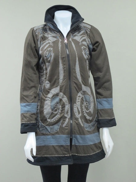 Ganesh Long Fleece Lined Jacket