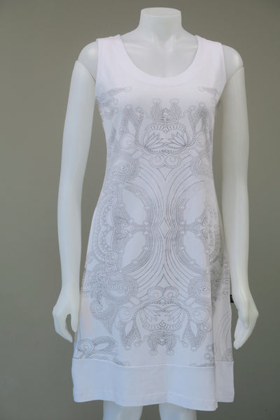 Emb.Printed s/less Dress