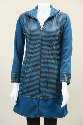 Stripe Cut Fleece Jacket