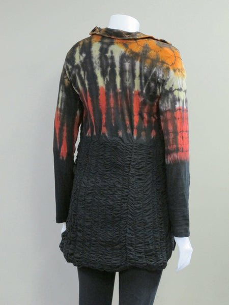 Tie Dye Rouched Jacket