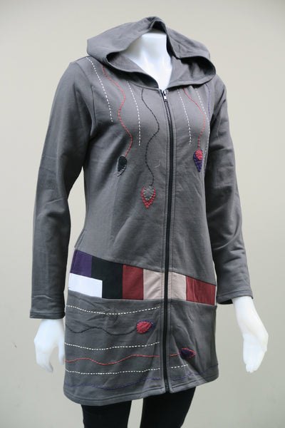 Stained Glass Cotton Fleece  Jacket