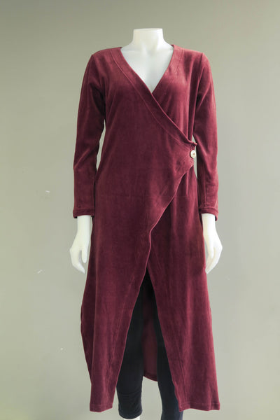 Org. Cotton Velvet Long Jacket