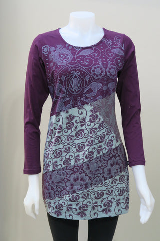 Organic Cotton Lace printed Tunic