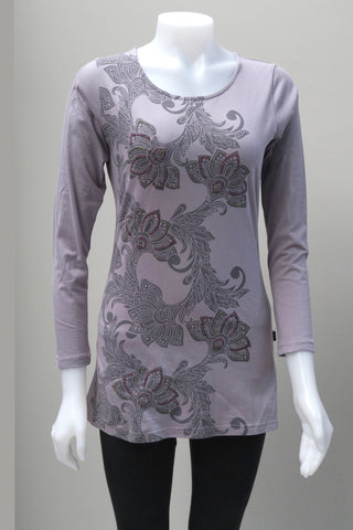 Organic Cotton Emb. Flower Top