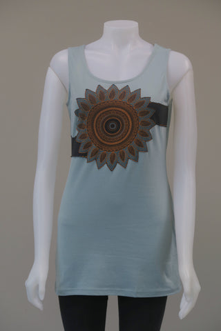 Organic Cotton Mandala s/less Top