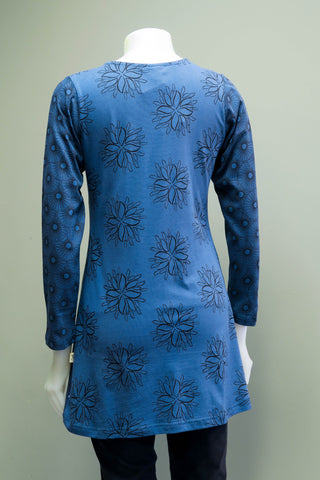 TT-T9921-BL - Org. Cotton Print Tunic