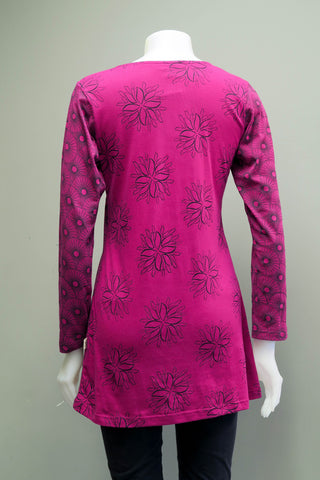 TT-T9921-PK - Org. Cotton Print Tunic