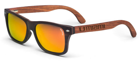 Miami Hurricanes Cabo Wood Sunglasses