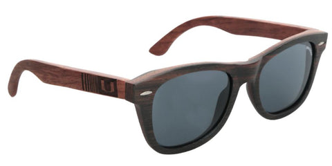 Miami Hurricanes Kalahari Wood Sunglasses