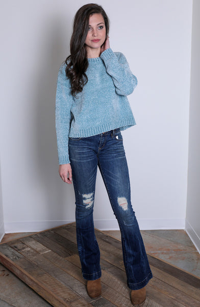 how forever feels sweater - blue