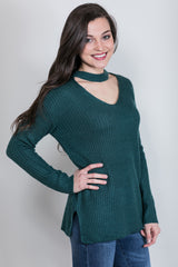 cool confidence cut out sweater