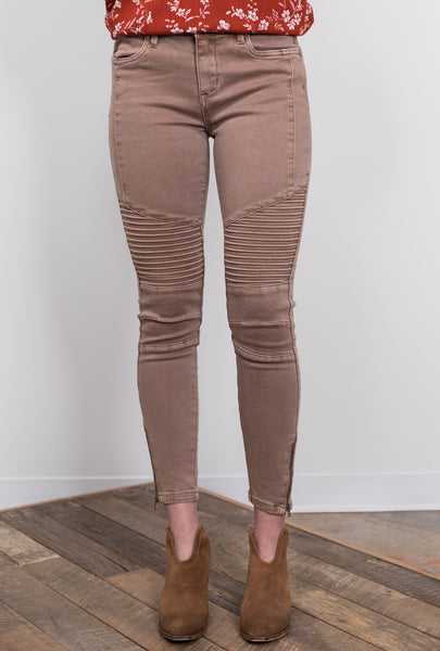 out & about motto bottoms - cocoa