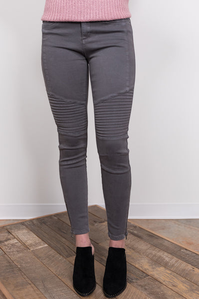 out & about motto bottoms - charcoal