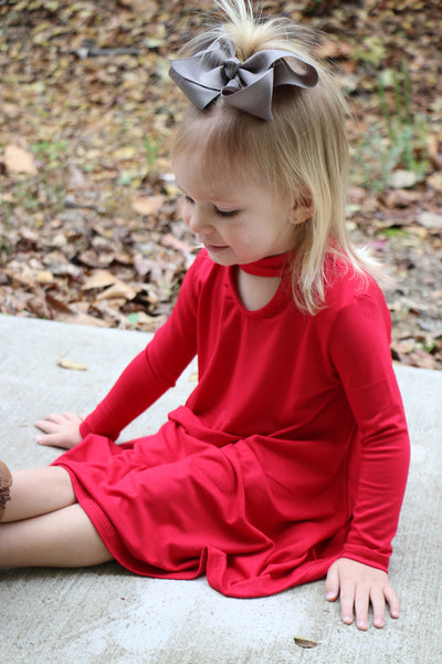 a cut above the rest toddler dress-red