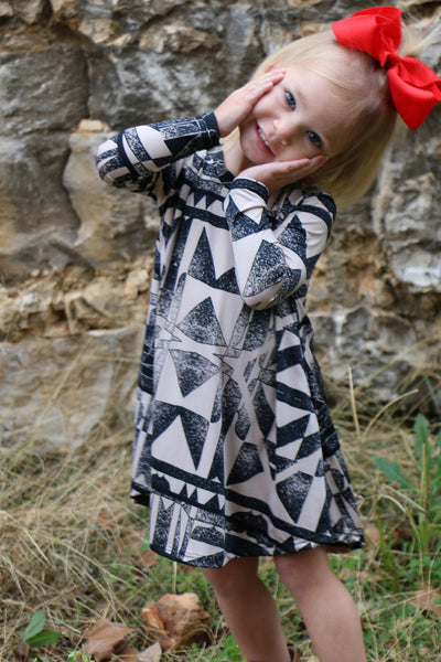 tribal flow toddler tunic