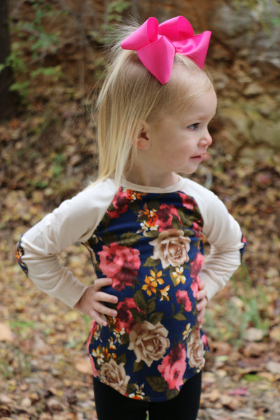 toddler tomboy floral top