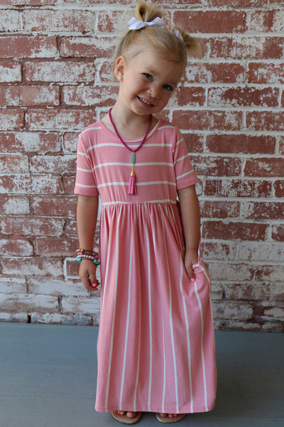 summer blush toddler dress