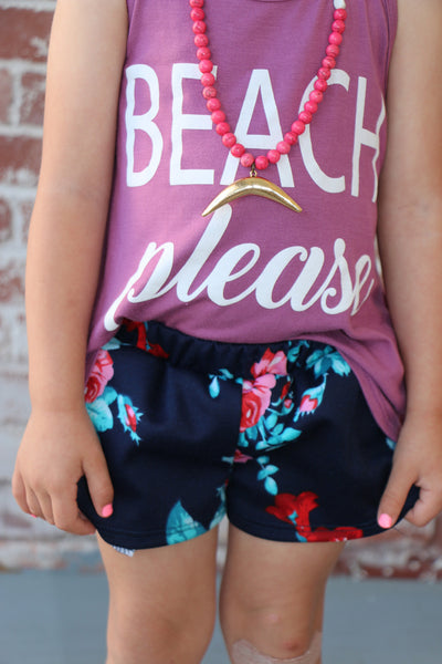 fun floral toddler shorties