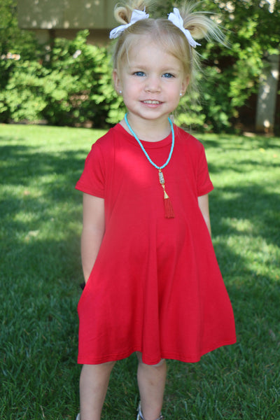royal red toddler dress