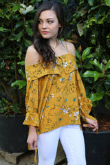sunny days printed blouse