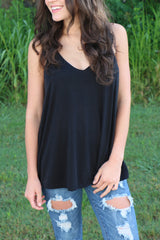 layered for summer tank-black