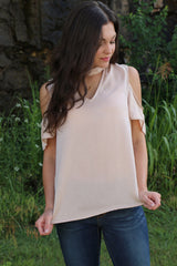 sparkling wine cold shoulder top
