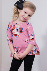 happy in floral toddler top